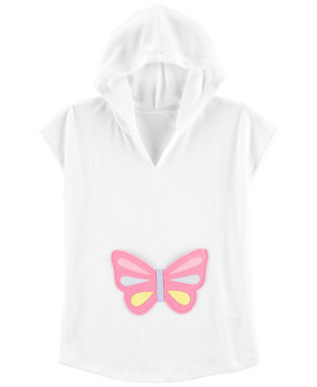 Big Girls Hooded Butterfly Cover Up Carters