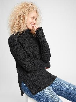 Cable-Knit Turtleneck Sweater Gap Factory