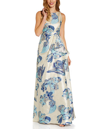 Halter Jacquard Ball Gown Adrianna Papell