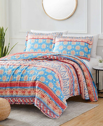 Georgetown Rayna 3-Piece Reversible Quilt Set, King Olivia Gray