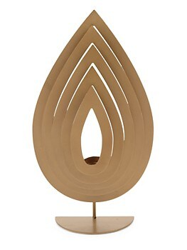 Layered Flame Metal Tealight Holder Torre And Tagus Designs