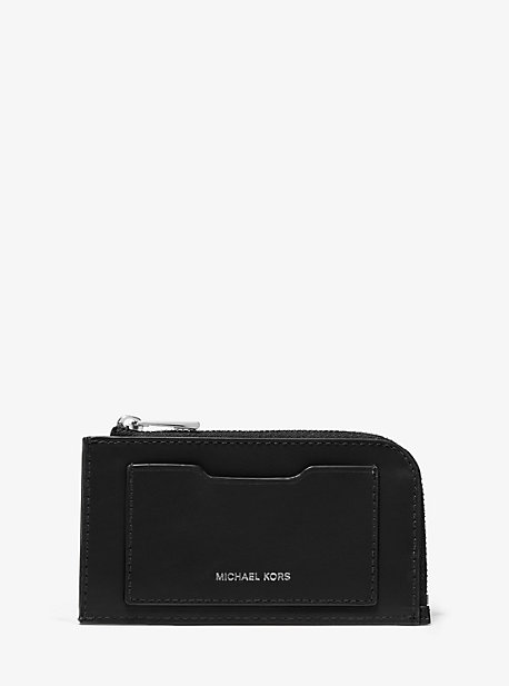 Leather Zip-Around Card Case  Michael Kors