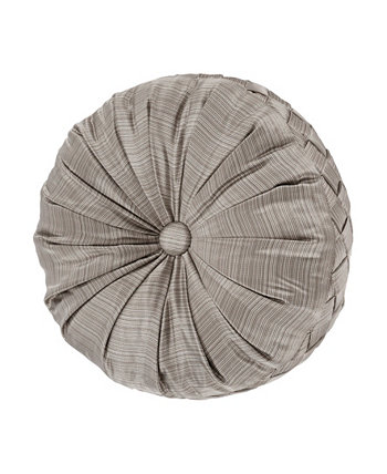 """Luxembourg Tufted Round Decorative Throw Pillow, 15"""" x 15"""" J Queen New York"""