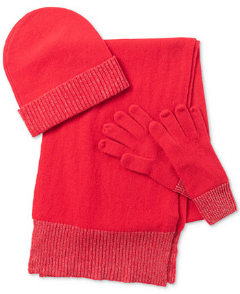 Cashmere Hat, Scarf & Gloves 3pc Set, Created for Macy's Charter Club