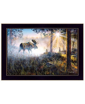 "Walk in the Mist By Jim Hansen, Printed Wall Art, Ready to hang, Black Frame, 20"" x 14"" Trendy Décor 4U"
