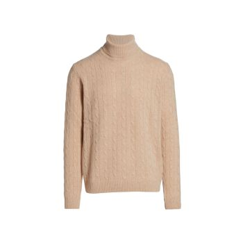 COLLECTION Cashmere Cable Knit Turtleneck Sweater Saks Fifth Avenue