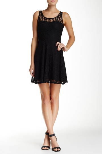 Lace Overlay Fit & Flare Dress MATERIAL GIRL