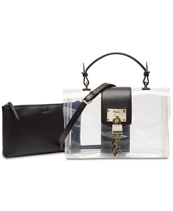 Elissa Flap Clear Shoulder Bag, Created for Macy's DKNY