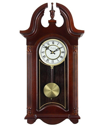 "Clock Collection 26.5"" Colonial Chiming Wall Clock with Roman Numerals Bedford"