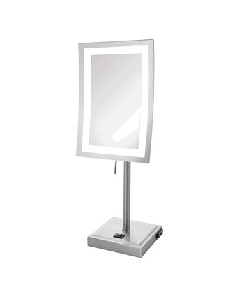 "The JRT910NL 6.5"" x 9"" LED Lighted Tabletop Rectangular Mirror Jerdon"