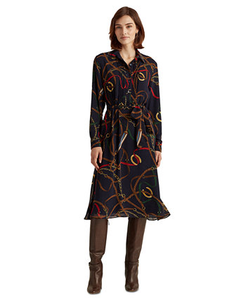 Print Georgette Shirtdress Ralph Lauren