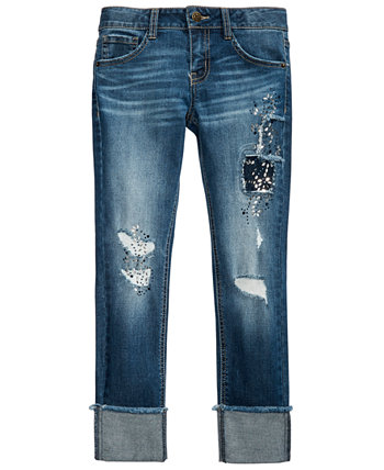 Big Girls Ripped Patched Jeans Imperial Star