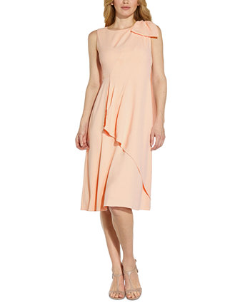 Faux-Wrap A-Line Dress Adrianna Papell