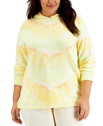 Plus Size Tie-Dyed Hoodie, Created for Macy's Style & Co