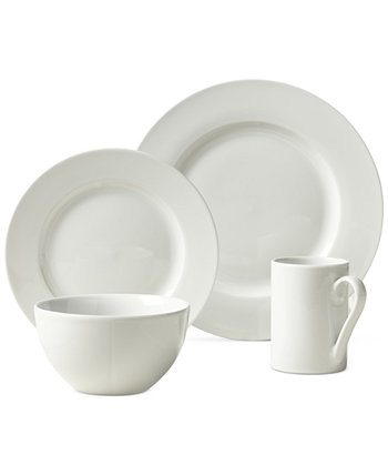 Soleil 16-Pc. Ash White Set, Service for 4 Tabletops Unlimited