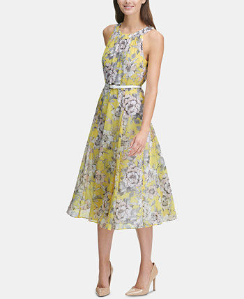 Printed Belted Halter Midi Dress Tommy Hilfiger