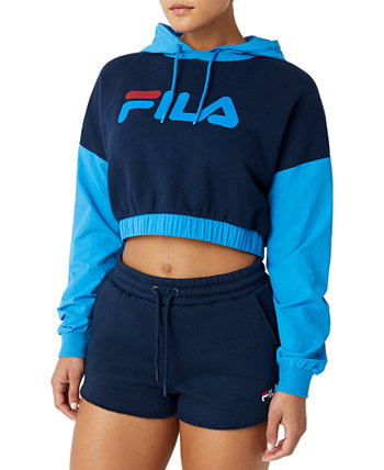 Sachi Colorblocked Cropped Hoodie Fila