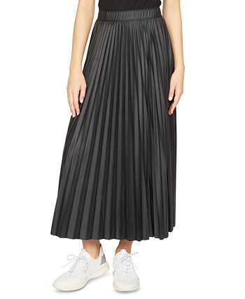 Top Secret Pleated Faux-Leather Midi Skirt Sanctuary