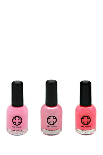 3-Piece Nail Polish Set - Blushing Glamour Status