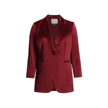 Whitney Single-Button Blazer Lafayette 148 New York, Plus Size