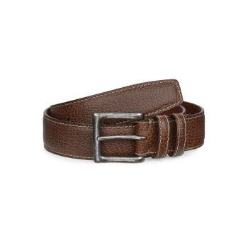 COLLECTION Saddle Stitch Leather Belt Saks Fifth Avenue