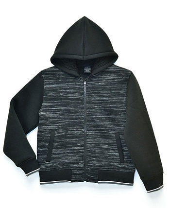 Big Boys William Space Dye Sherpa Lined Fleece Zip Up Jacket with Hood, Made For Macy's Ring of Fire