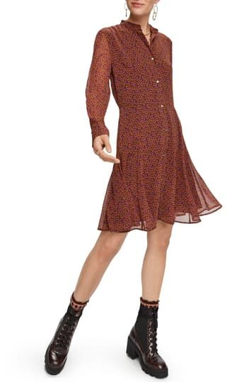 Long Sleeve A-line Dress Scotch & Soda