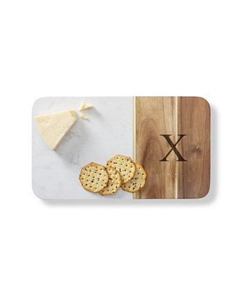 Personalized Marble Acacia Cheese Board Cathy's Concepts