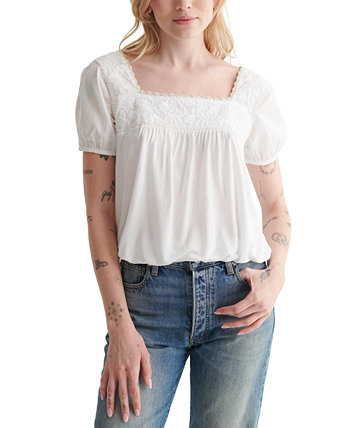 Short-Sleeve Boho Shirt Lucky Brand