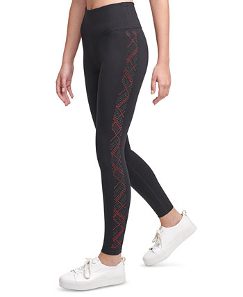 Rhinestone-Embellished High-Waist Leggings Calvin Klein