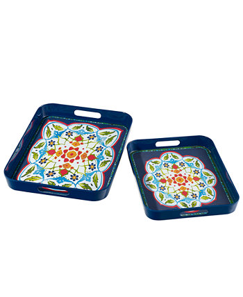 Ciao Set of 2 Melamine Nesting Trays Over and Back
