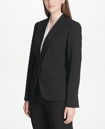 Collarless One-Button Blazer DKNY