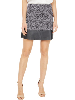 Petite Tweed Leather Miniskirt MICHAEL Michael Kors