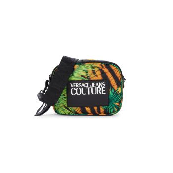 Logo Jungle-Print Crossbody Bag Versace Jeans Couture