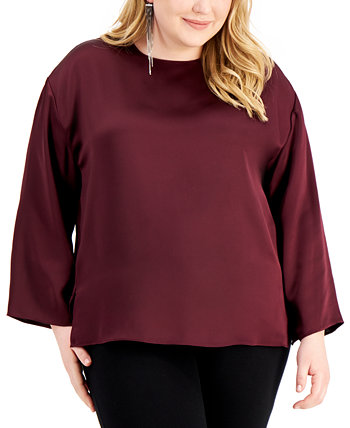 Plus Size Side-Slit Top, Created for Macy's Alfani