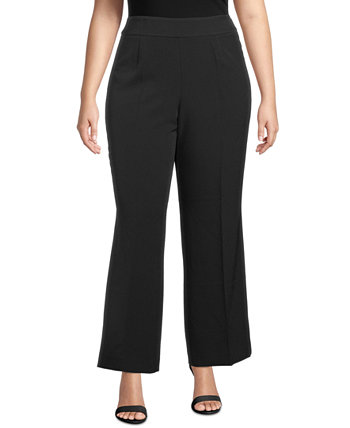 Plus Size Wide-Leg Side-Zip Pants Kasper