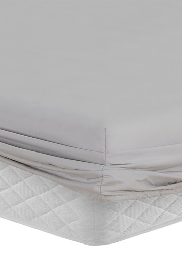 Manor Ridge Luxury 100gsm Brushed Microfiber Hypoallergenic Fitted Sheet - Grey - California King Modern Threads