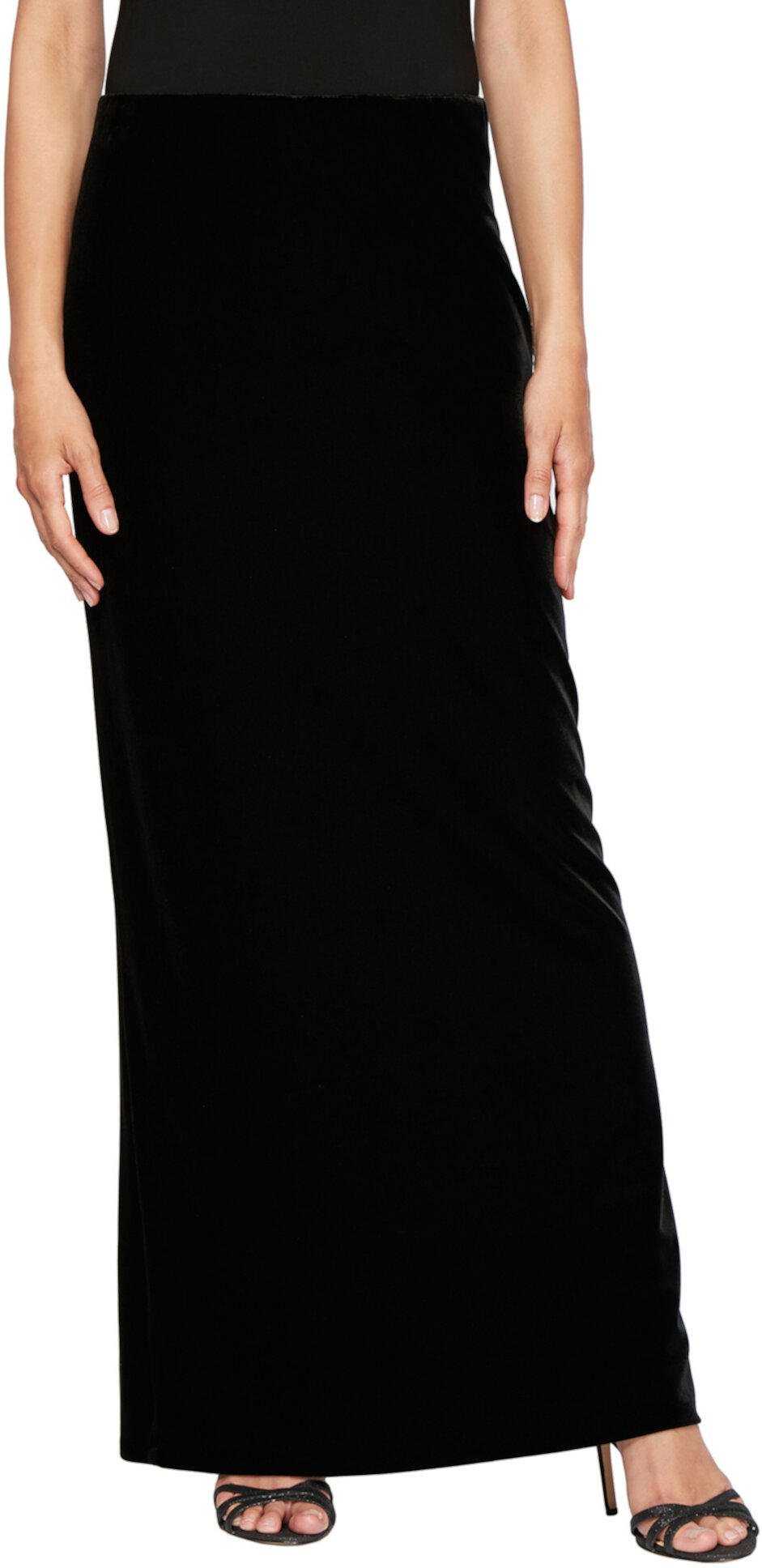 Long Stretch Velvet Skirt Alex Evenings