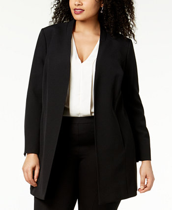 Plus Size Open-Front Topper Jacket Kasper