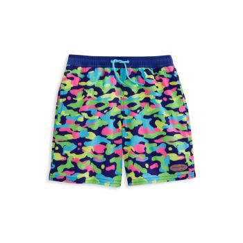 Little Boy's & Boy's Multicolor Leopard Swim Trunks Vineyard Vines