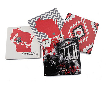 University of Wisconsin Spirit Coasters, Set of 4 THIRSTYSTONE