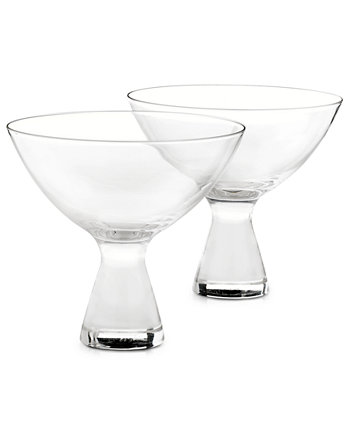 Plateau Martini Glasses, Set of 2, Created for Macy's Hotel Collection