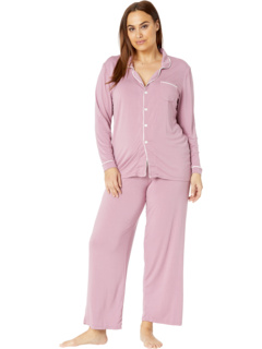 Plus Size Collared Pajama Set KicKee Pants