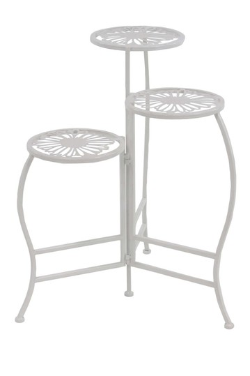 White Folding Plant Stand Willow Row