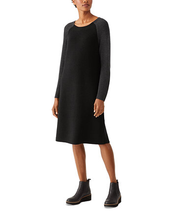 Contrast Sleeve Dress Eileen Fisher