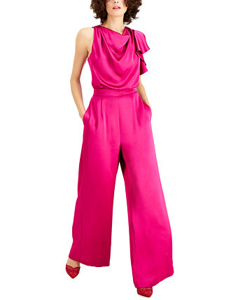 INC Petite Cowlneck Wide-Leg Jumpsuit, Created for Macy's INC International Concepts