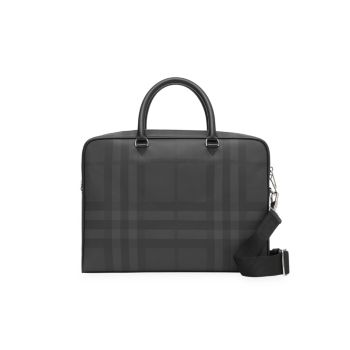 Ainsworth London Check Leather Briefcase Burberry