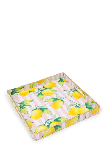 Lemons Square Tray 8 Oak Lane