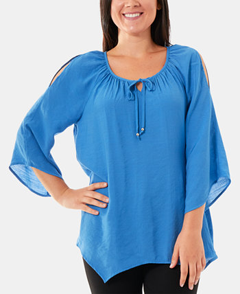 Split-Sleeve Peasant Top NY Collection