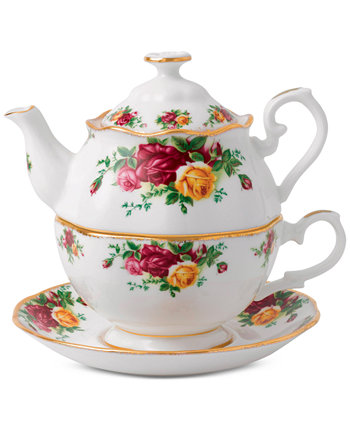 Old Country Roses Tea For One Set Royal Albert